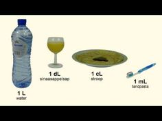 (32) Inhoudsmaten omrekenen 2: Liter, deciliter, centiliter, milliliter - YouTube