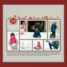 Christmas Scrapbook Layouts at