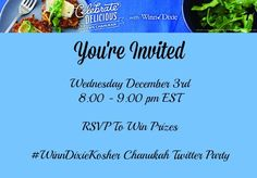 Join our Twitter Party for #Chanukah this week!!