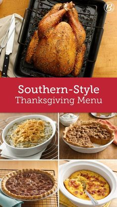 From sweet potato pie to fan-favorite corn pudding to herbed turkey with cornbread stuffing, all of your favorite Southern-inspired Thanksgiving recipes are right here. Southern Thanksgiving Menu, Thanksgiving Side Dishes, Thanksgiving Desserts, Thanksgiving Turkey, Christmas Desserts, Traditional Thanksgiving Dinner Menu, Happy Thanksgiving, Christmas Crafts, Potato Pie
