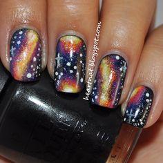 Sweet galaxy nail