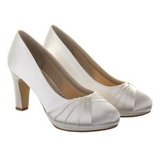Rainbow Club Wide Fit Kimberly Bridal Shoes Crystal