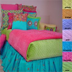 Bright Bed Girls Quilt Collection