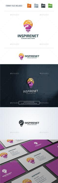 Internet Inspiration Logo  — EPS Template #bulb #inspire • Download ➝ https://graphicriver.net/item/internet-inspiration-logo/18156087?ref=pxcr