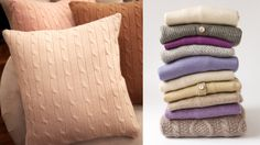 Make a cashmere pillow (or just a really nice sweater pillow!)  :-)