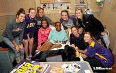 LSU volleyball truly cares about community service
