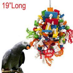 Bird Chew Increase Activity Hartz Wood and Sisal Twine Medium Bird Toy