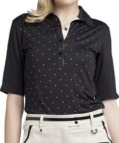 Look what I found on #zulily! Black & Bronze Studded Lana Polo by GGblue #zulilyfinds
