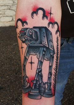 At-At Star Wars tattoo i made. i work in Austin, Tx at Amillion Tattoo. See more work on instagram @drewcanadatattoo. Any questions i can be reached at BoldWillHold@hotmail.com. Thank you