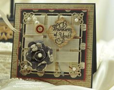 Thinking of you card designed by Becca Feeken using Large Fancy Sentiments.