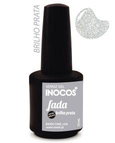 Verniz de Luxo - Inocos Verniz Gel 15ml Fada (Brilhos Prata)
