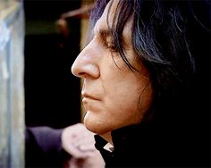 Alan Rickman as Severus Snape.