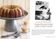 Gingerbread Bundt Cake with Coffee Glaze (Sprinkle Bakes) Sweet Recipes, Cake Recipes, Dessert Recipes, Easy Desserts, Sweet Coffee, Coffee Coffee, Waffle Cake, Lime Cheesecake, Dessert Blog