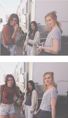 Maia Mitchell (Callie), Cierra Ramirez (Mariana) and Madisen Beaty (Talya) on the set of The Fosters! Foster Cast, Foster Family, Abc Family, Mariana Foster, Cierra Ramirez, Teri Polo, Teen Beach, Maia Mitchell, Cute Gay Couples