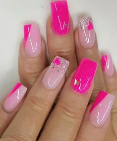 49 nail art designs that so fresh and youthful, coffin nail art designs,almond nail art design, acrylic nail art, nail designs with glitter Acrylic Nails Coffin Short, Pink Acrylic Nails, Purple Nails, Coffin Nail, 3d Nails, Purple Nail Designs, Cute Acrylic Nail Designs, Nail Art Designs, Beautiful Nail Designs