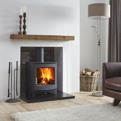 The Dik Geurts Ivar 5 Low is a contemporary and versatile stove. It has a classi…, – Freestanding fireplace wood burning Gas Stove Fireplace, Wood Burner Fireplace, Fireplace Hearth, Home Fireplace, Modern Fireplace, Living Room With Fireplace, Fireplace Design, Tiles For Fireplace, Wood Burning Fireplaces