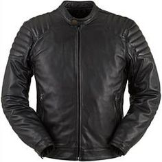 Furygan Russel Leather Jacket - Black