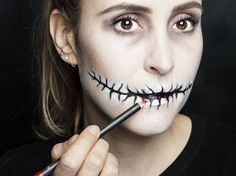 Halloween how-to: Stitched mouth makeup tutorial