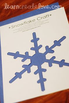 Snowflake Craft for kids. Winter Christmas crafts.