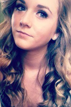 Back at homecoming #makeup #hair #curls