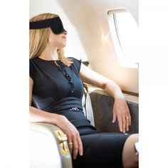 Travel Pillow Alternative with Eyemask | Air travel can go one of two ways: You sleep like a baby on the plane and arrive feeling fresh and fabulous…or you fight over the armrest and spend a grumpy few hours dodging eye contact with your seat-mate. Make sure it's the former with the quintessential black-out sleeping mask that brings a little something extra to rest your head on. Shop at SkyMall.com!
