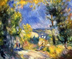 View of the Murnau Moor, View Close to Antibes / Pierre Auguste Renoir - circa 1889