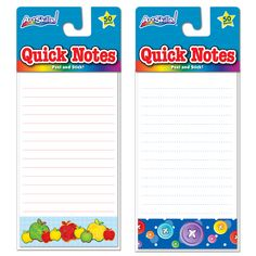Need to send a note to the teacher, or maybe just something special to pack in your child's lunch? Quick Notes are the perfect decorated pads!  Exclusively at Dollar General for only $1