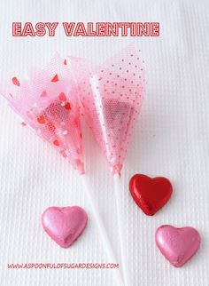 Nothing says Valentines Day quite like hearts, flowers, and chocolates. Now you can combine all three in this easy Valentine project. These quick to make Valentines would be perfect to give out to your child's class mates.
