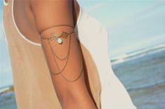 Bracelet de bras / bijoux de corps por BijouxJadJewels en Etsy