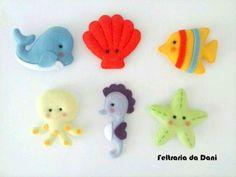 Feltraria da Dani Baby Crafts, Felt Crafts, Quite Book Patterns, Felt Magnet, Felt Penguin, Baby Mobile Felt, Felt Animal Patterns, Felt Fish, Diy Projects For Kids