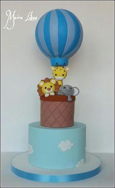 Hot air ballon - Cake by Maira Liboa