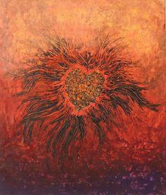 Coeur Phoenix Acrylique sur toile 60x50 cm Janvier 2015