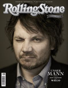 Jeff Tweedy (Wilco) on the cover of german Rolling Stone