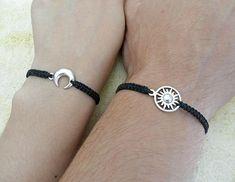 Couples Bracelet Moon and Sun Bracelet Love Bracelet Set of