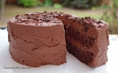 Gourmet Girl Cooks: Best Old Fashioned MINI Chocolate Cake - Low Carb, Sugar Free, Grain & Gluten Free [THM S]