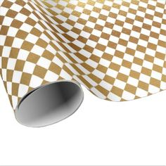 White Gold Geometry Chessboard Diamond Cut Wrapping Paper - classic gifts gift ideas diy custom unique