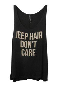 JEEP HAIR DONT CARE Black Tank Top - Shop Simply Me –boutique – www.SHOPSIMPLYME.com - #ishopsimplyme – Naples, FL