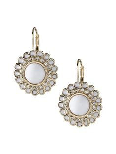 Banana Republic | Colorful Drop Earrings White