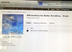 #100happydays #positiveaffirmations #health  My affirmations MP3 is on itunes. Just was browsing & there it was. I really did it! Wowsers! ╰(*´︶`*)╯♡