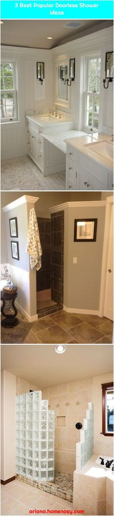 Pros and Cons of Having Doorless Shower on Your HomePros and Cons of Having Doorless Shower on Your Home Think of having a doorless shower or walk-. Walk In Shower, Popular, Cool Stuff, Bathroom, Shower Ideas, Modern, Kitchen, Green, Home Decor