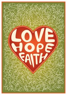 Poster idea for relay for life. Love - Hope - Faith