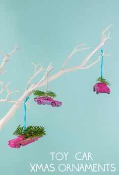 DIY Upcycled Toy Car Christmas Ornaments