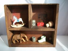 Vintage assemblage display box on Etsy by GTDesigns.