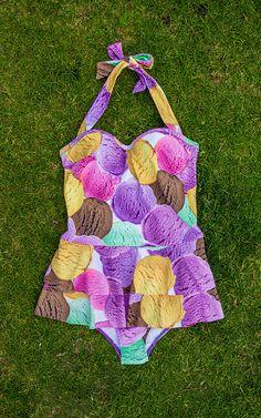 I love this icecream scoop swim suit its adorable, modest & fun