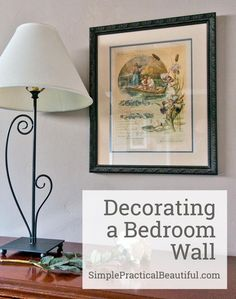 Bedroom decor should be personal, meaningful, and beautiful. Here's a decor idea | Decorating a Bedroom Wall with Family History