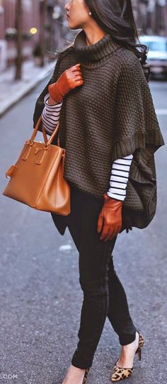 Another great poncho look