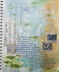 an extremely beautiful art journal page .. inspires me