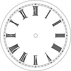 7-1/2 White Roman Clock Dial