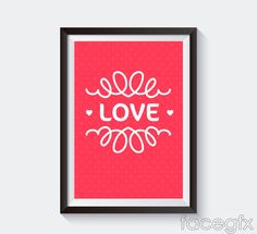 Beautiful love decorative painting vector