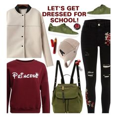 A fashion look from March 2017 featuring River Island jeans, Topshop sneakers and Marc Jacobs backpacks. Browse and shop related looks.
